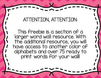 Word Wall Freebie