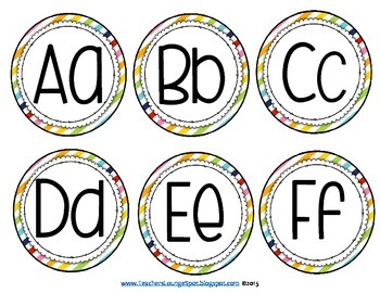 Word Wall Freebie - Header and Alphabet Cards