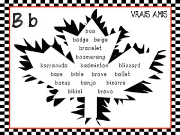 Word Wall French/English Cognates - Vrais Amis