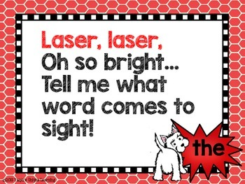 Word Wall Fun-  Laser, Laser