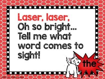Word Wall Fun-  Laser, Laser