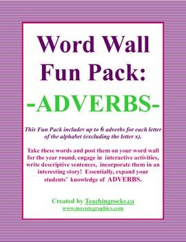Word Wall Fun Pack - ADVERBS!