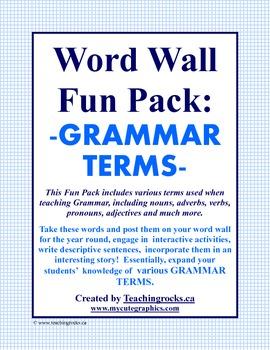 Word Wall Fun Pack - GRAMMAR TERMS!