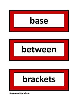 Word Wall Fun Pack ~ Math
