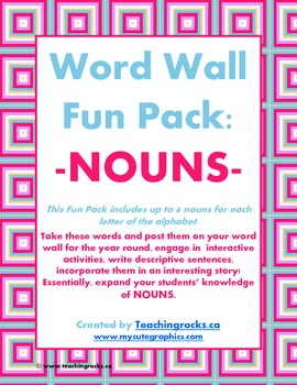 Word Wall Fun Pack - NOUNS!