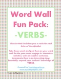 Word Wall Fun Pack - VERBS!