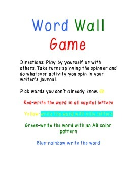 Word Wall Game