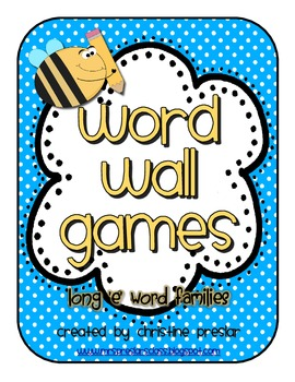 Word Wall Game - {Long E Words}