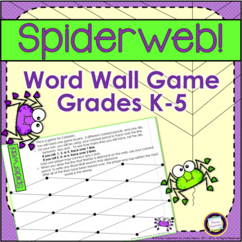 Word Wall Dot Game ~ Spiderweb!