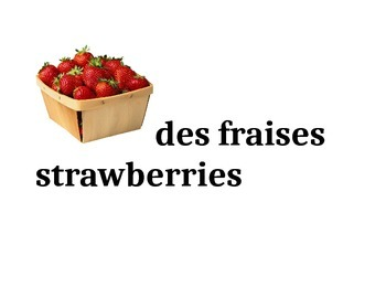 Word Wall & Game for French foods
