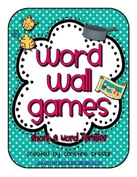 Word Wall Games - {Short a Word Families}