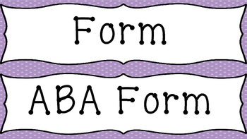 Music Word Wall- General Music Terms (Purple Background)