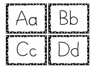 Word Wall Header, Black Dots Frame