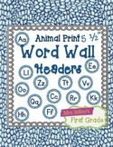 "Word Wall Header {Blue Snake} 5.5"" Round"