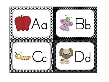 Word Wall Header Cards *Black & White Edition*