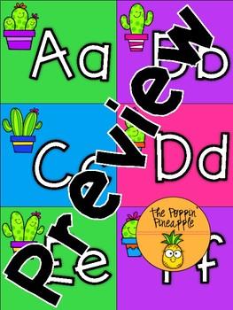 Word Wall Header Cards-Cactus Theme