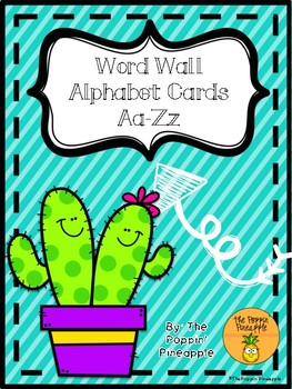 Word Wall Header Cards-Cactus Theme