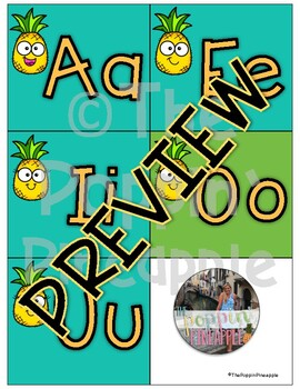 Word Wall Header Cards-Pineapple Theme