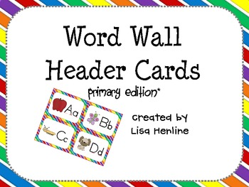 Word Wall Header Cards *Primary Edition*