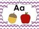 Word Wall Header Cards (Purple Chevron)