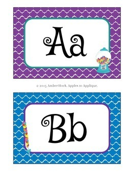Letter Posters / Word Wall Posters in Candy Shop Theme