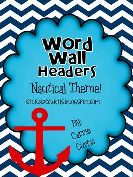 Word Wall Header: Sailboats!