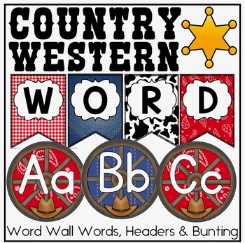 Word Wall {Country Western Classroom Decor Theme}
