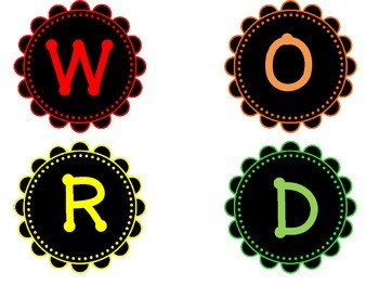 Word Wall Header and Letters