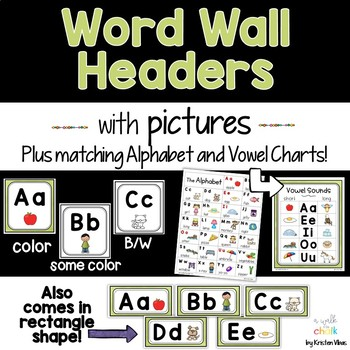 Word Wall Headers (Green)