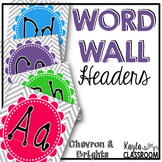 Word Wall Headers [Chevron & Brights]