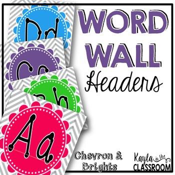 Word Wall Headers [Chevron & Brights]