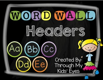 Word Wall Headers