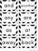 Word Wall Headers & 200 Words - Black & White Chevron