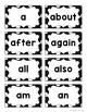Word Wall Headers & 200 Words - Black & White Polka Dot {F