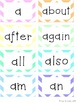 Word Wall Headers & 200 Words - Pastel Chevron