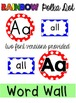 Word Wall Headers & 200 Words - Rainbow Polka Dot