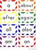 Word Wall Headers & 200 Words - Teal and Rainbow Chevron