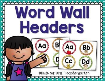 Word Wall Headers