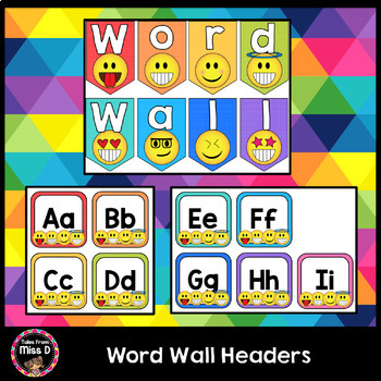 Emoji Word Wall Headers