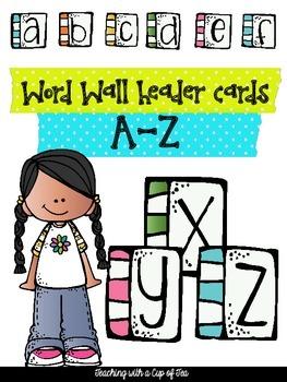 Word Wall Headers: A-Z