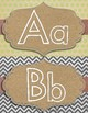 Word Wall Headers - ABCs- 'Shabby Toadstool'