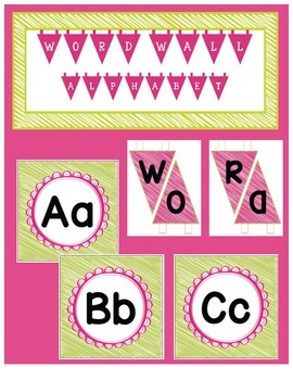 Word Wall Headers - Alphabet and Title