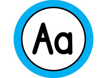 Large Word Wall Headers (Aqua Circles)