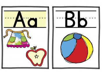 Word Wall Headers + Beginning Sound Pictures
