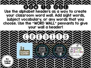 Word Wall Headers {Black & White}
