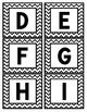 Word Wall Headers - Black & White Chevron