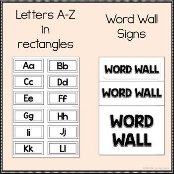 Word Wall Letters {Blackline}