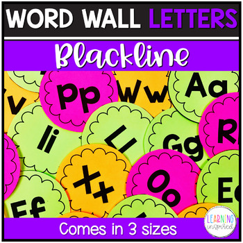 Word Wall Letters Blackline Edition