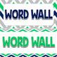 Word Wall Headers {Blue, Green, & Gray Chevron}