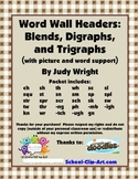Word Wall Headers: Blends, Digraphs, and Trigraphs